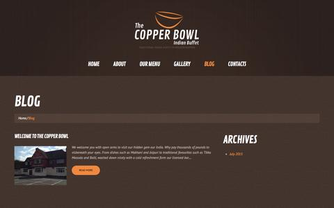 Screenshot of Blog thecopperbowl.co.uk - The Copper Bowl | Traditional Indian Buffet in Wolverhampton - captured Jan. 12, 2016