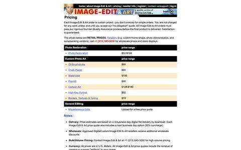 Screenshot of Pricing Page image-edit.com - Pricing - Image-Edit & Art - captured Oct. 9, 2018