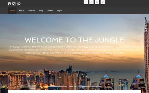 Screenshot of Home Page puzhr.com - PUZHR – Digital marketing - captured Dec. 15, 2015