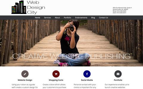 Screenshot of Home Page webdesigncity.com - Web Design City - A Premier Website Design Company in North Carolina - captured Aug. 13, 2015