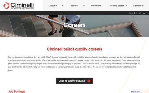 Screenshot of Jobs Page ciminelli.com - Job Board - View Job Postings - captured July 30, 2017