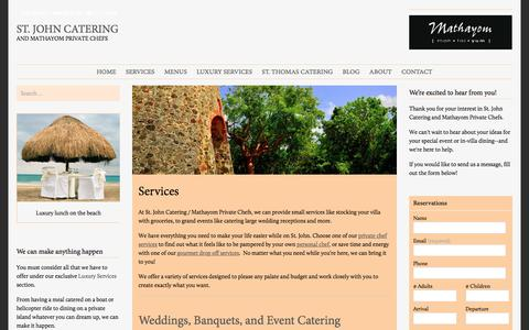 Screenshot of Services Page stjohncatering.com - Services | St. John Catering - captured Dec. 3, 2016