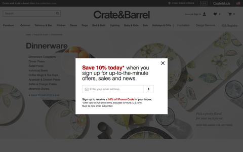 Dinnerware: Plates, Bowls, Mugs and Dishes   Crate and Barrel