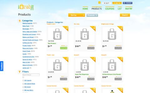 Screenshot of Products Page igrab.it - iGrabit - captured Oct. 6, 2014