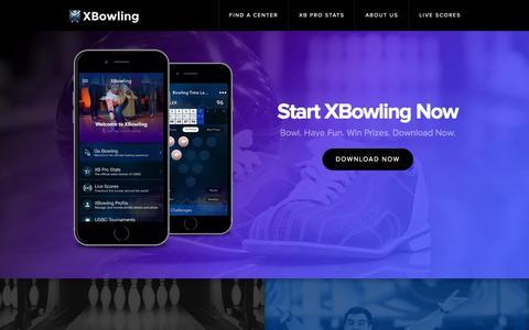 Screenshot of Home Page xbowling.com - XBowling   - captured Feb. 15, 2016