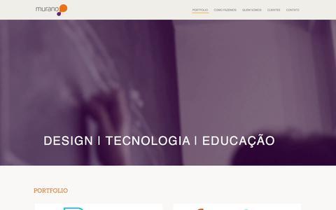 Screenshot of Home Page muranodesign.com.br - Murano Design - captured Dec. 1, 2016