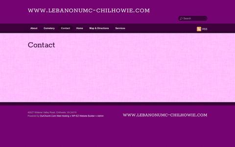 Screenshot of Contact Page lebanonumc-chilhowie.com - Contact - www.lebanonumc-chilhowie.com - captured April 12, 2017
