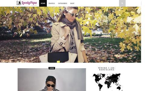 Screenshot of Home Page lovely-pepa.com - Home - Lovely Pepa by Alexandra - captured Nov. 12, 2015