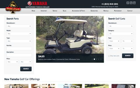 Screenshot of Press Page Site Map Page houseofcarts.com - New yamaha golf carts, used yamaha golf carts, custom golf carts - captured Oct. 22, 2014