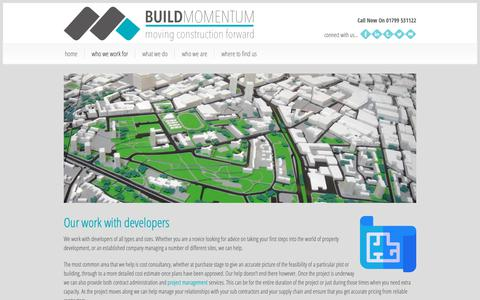 Screenshot of Developers Page buildmomentum.com - Developers And House Builders - Build Momentum Ltd - captured Oct. 7, 2018