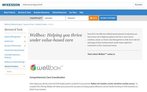 Wellbox - McKesson Medical-Surgical