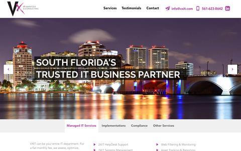 Screenshot of Home Page vxit.com - VXIT - IT Consulting & Services - captured Nov. 30, 2016