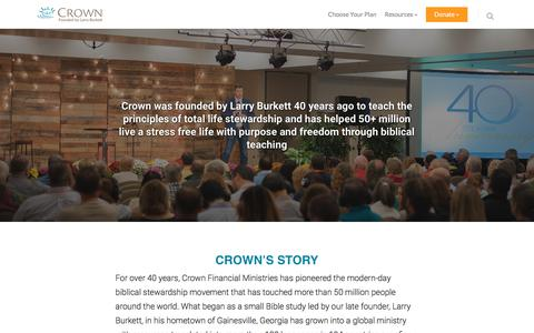 Screenshot of About Page crown.org - About – Crown - captured Sept. 16, 2017