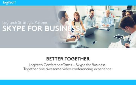 Screenshot of Landing Page logitech.com - Skype for Business | Logitech - captured Sept. 25, 2016