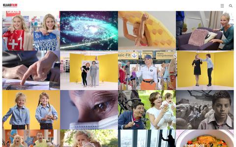 Screenshot of Home Page klaasfilm.nl - KlaasfilmKlaasfilm - captured Jan. 9, 2016