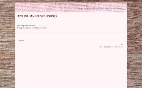 Screenshot of Menu Page hannelorehoudijk.nl - Atelier Hannelore Houdijk - captured Oct. 4, 2014