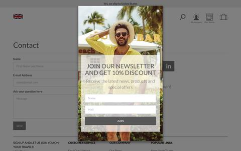 Screenshot of Contact Page sanwinbeachwear.com - Contact - captured July 27, 2018