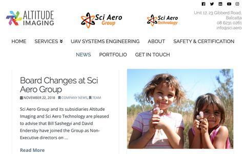 Screenshot of Press Page altitude-imaging.com - Your Latest Aerial Drone/UAV News | Altitude Imaging - captured Dec. 18, 2018