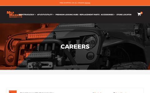 Screenshot of Jobs Page milemarker.com - CAREERS – Mile Marker Industries - captured Nov. 2, 2017