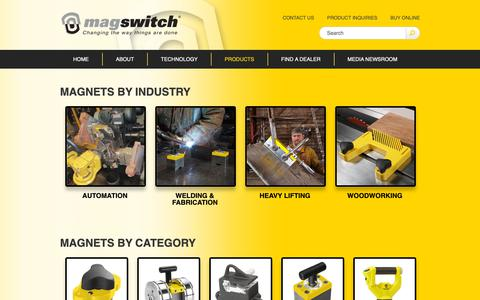 Screenshot of Products Page magswitch.com.au - Switchable Permanent Magnets - Magswitch - captured Oct. 2, 2018