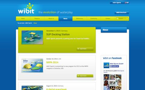 Screenshot of Press Page wibitsports.com - Inflatable Water Slide for Commercial Pools and Resorts | Wibit Sports - captured Nov. 4, 2014