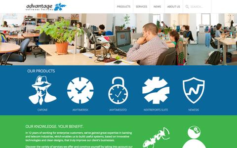 Screenshot of Home Page asf.ro - Advantage Software Factory - captured Oct. 4, 2014