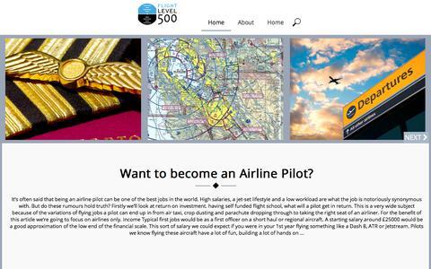 Screenshot of Home Page fl500.com - FL500 Blog - captured Oct. 14, 2017