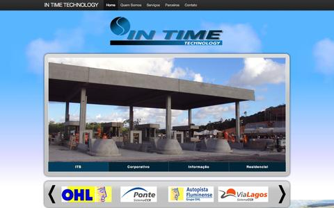 Screenshot of Home Page intimetec.com.br - IN TIME Technology - captured Oct. 6, 2014