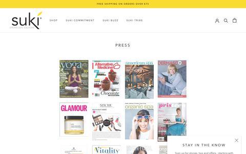 Screenshot of Press Page sukiskincare.com - Press – SukiSkincare - captured July 13, 2019