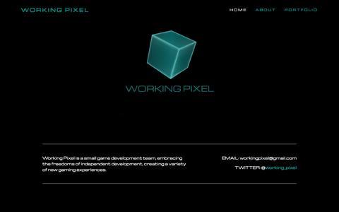 Screenshot of Home Page workingpixel.com - Working Pixel - captured Aug. 17, 2016