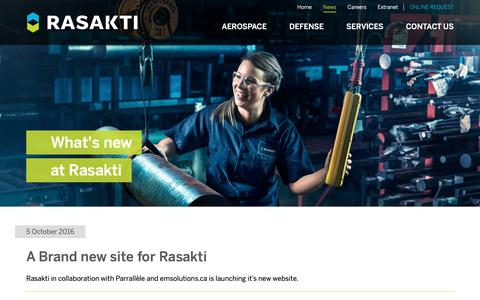 Screenshot of Press Page rasakti.com - News Archives - Rasakti - captured Oct. 18, 2018