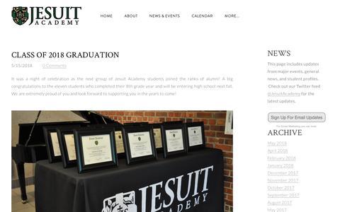 Screenshot of Press Page jesuitacademy.org - Jesuit Academy - Omaha, NE - Jesuit Academy News - captured Sept. 20, 2018