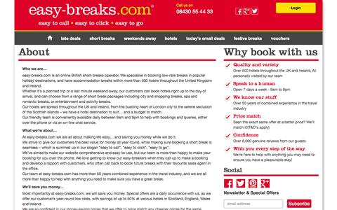 Screenshot of About Page easy-breaks.com - About - captured Nov. 2, 2014
