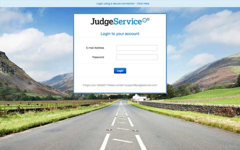 Screenshot of Login Page judgeservice.com - JudgeService.com - captured Nov. 3, 2014