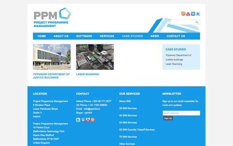 Screenshot of Case Studies Page ppm5d.ie - Case Studies - captured Oct. 3, 2014