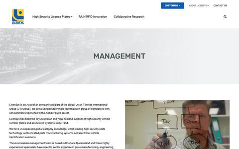 Screenshot of Team Page licensys.com - Management - LicenSys - captured Sept. 28, 2018