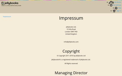 Jellybooks - Impressum  - Pages