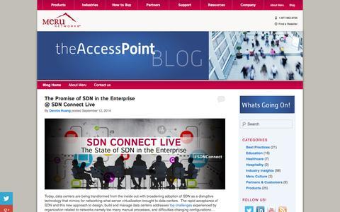 Screenshot of Blog merunetworks.com - Blog | Meru Networks | - captured Sept. 16, 2014