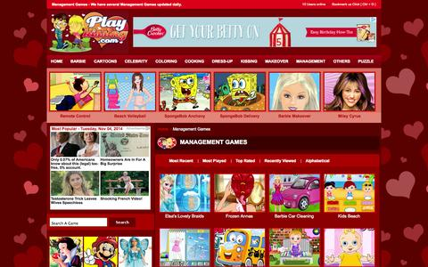 Screenshot of Team Page playkissing.com - Management games - Play Management for free daily. - captured Nov. 4, 2014
