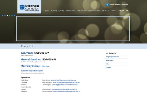 Screenshot of Contact Page kitchenconnection.com.au - Kitchen Connection - Kitchens - Contact Us - captured Oct. 4, 2014