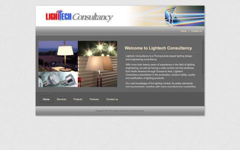Screenshot of Home Page lightechconsultancy.com - Lightech Consultancy - Lighting engineering consulting company - captured Oct. 8, 2014
