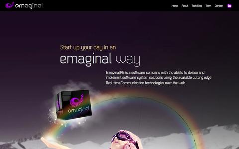 Screenshot of Home Page emaginal.com - EMAGINAL - captured Oct. 3, 2014