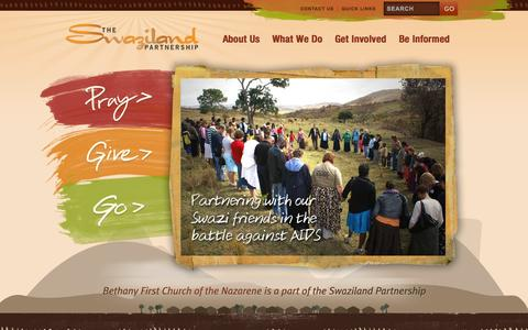 Screenshot of Home Page swazipartners.org - The Swaziland Partnership - captured Sept. 24, 2015