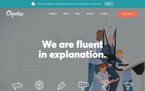 Screenshot of Home Page clipatize.com - CLIPATIZE - B2B Content marketing agency. Healthcare Technology Pharma Aviation etc. - captured March 1, 2017