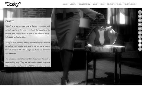 Screenshot of About Page itscoxy.com - °Coxy° - captured Oct. 3, 2014