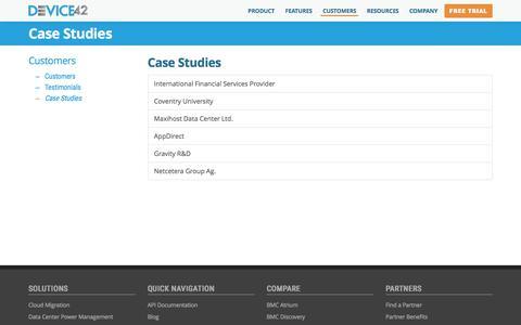 Case Studies | Device42 Software