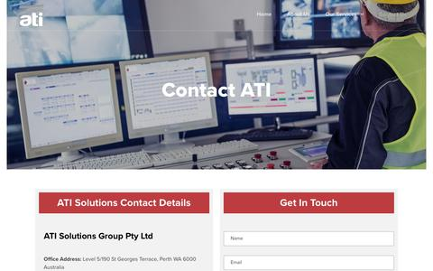 Screenshot of Contact Page atisolutionsgroup.com.au - Contact Us | ATI Solutions - captured Oct. 7, 2017
