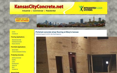 Screenshot of Blog kansascityconcrete.net - Concrete polishing, floor repair, epoxy, stained floors in Kansas City - captured Oct. 6, 2014