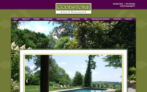 Screenshot of Press Page goodstone.com - Middleburg Corporate Events | Middleburg Corporate Retreats | Goodstone Inn & Restaurant - captured Oct. 3, 2014