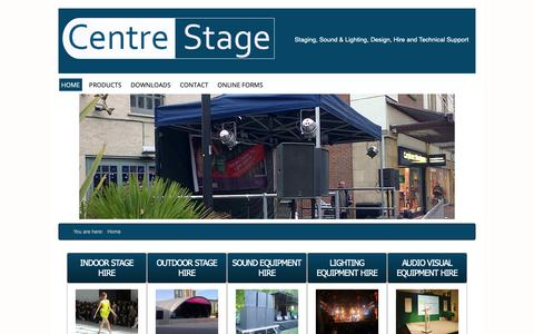 Screenshot of Home Page centrestage.org.uk - Event Lighting Hire   Sound Systems Hire   PA Hire   Stage Lighting Hire   London - captured Dec. 7, 2018